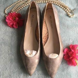 AK ANN KLEIN pewter color shoes size 9.5